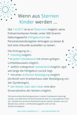Read more about the article Eintragung von Sternenkindern ist in Österreich möglich!