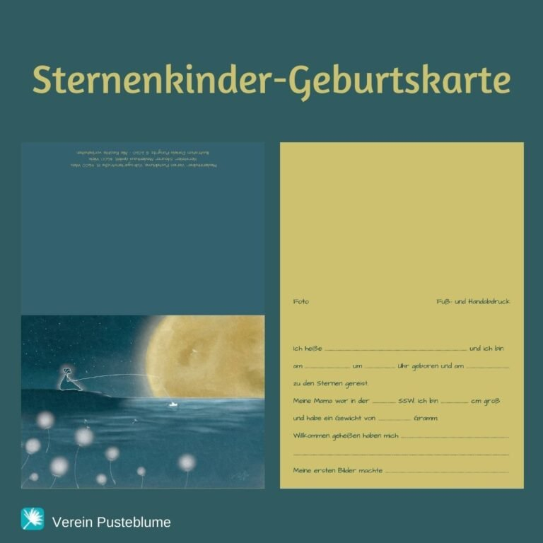 Read more about the article Sternenkinder-Geburtskarte